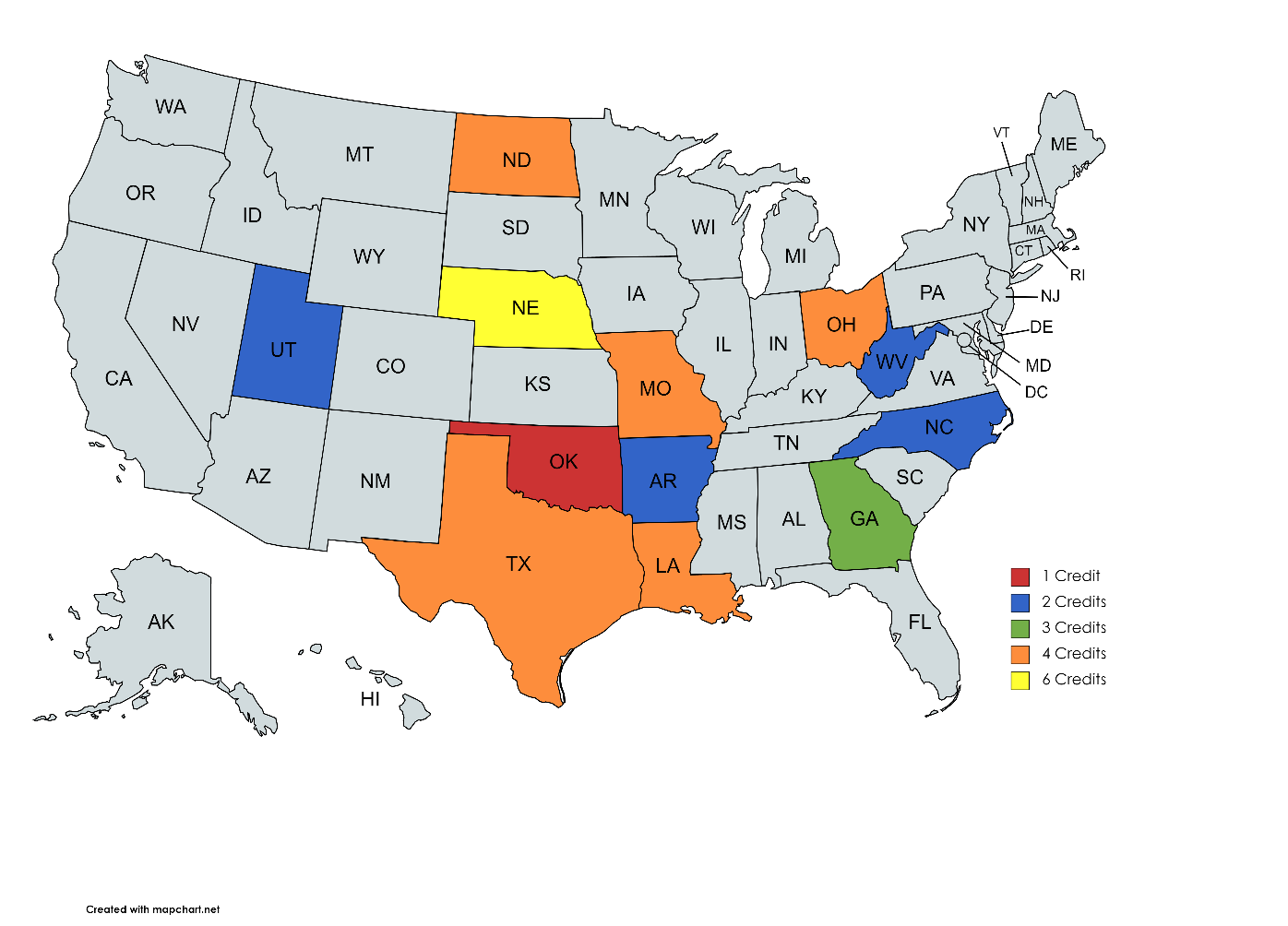 States Offering CE Credit